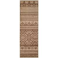 Safavieh Adirondack Southwestern Camel/ Chocolate Brown Rug (2'6 x 8')