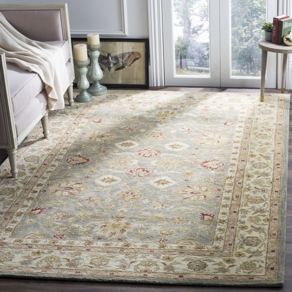 Safavieh Handmade Antiquity Grey Blue Beige Wool Rug 6