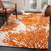 Safavieh Handmade Bella Beige/ Terracotta Wool Rug - 5' x 8'