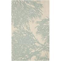 Safavieh Handmade Bella Beige/ Blue Wool Rug - 5' x 8'
