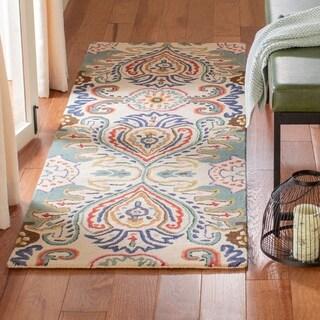 Safavieh Handmade Bella Ivory/ Blue Wool Rug (2'3 x 9')