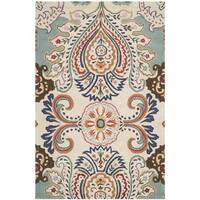 Safavieh Handmade Bella Ivory/ Blue Wool Rug - 5' x 8'