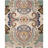 Safavieh Handmade Bella Ivory/ Blue Wool Rug - 8'9 x 12'