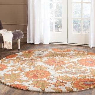 Safavieh Hand-hooked Blossom Ivory Wool Rug (4' Round)