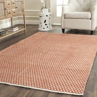 Safavieh Handmade Boston Flatweave Orange Cotton Rug - 6' x 6' Square