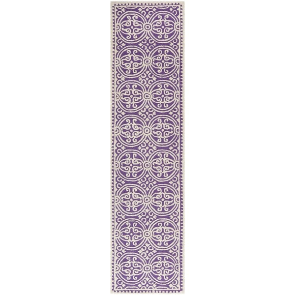 Shop Safavieh Handmade Cambridge Moroccan Purple/ Ivory
