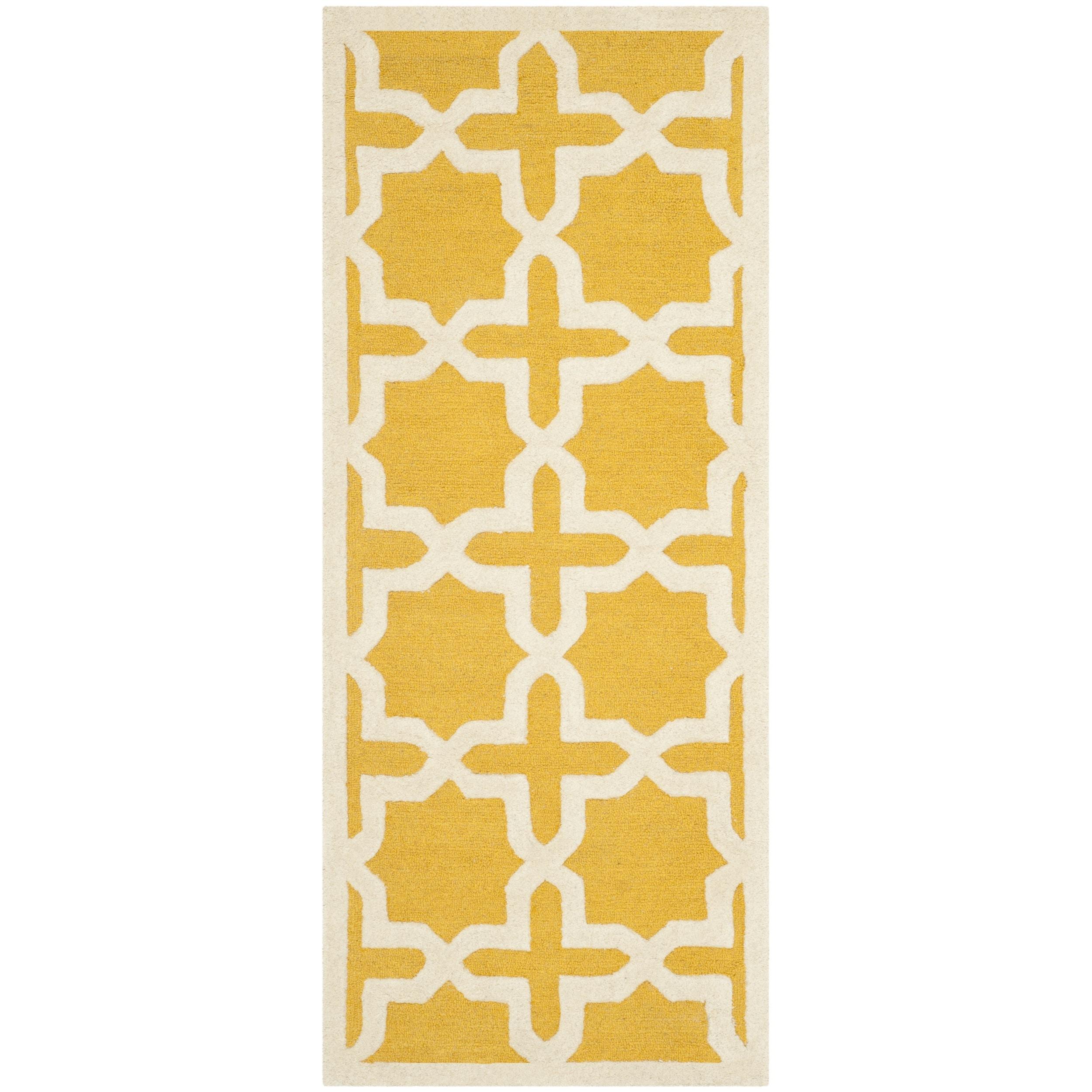 Safavieh Handmade Moroccan Cambridge Trellis Pattern Gold