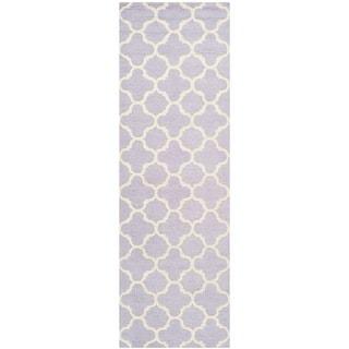 Safavieh Handmade Moroccan Cambridge Lavender/ Ivory Wool Rug (2'6 x 10')