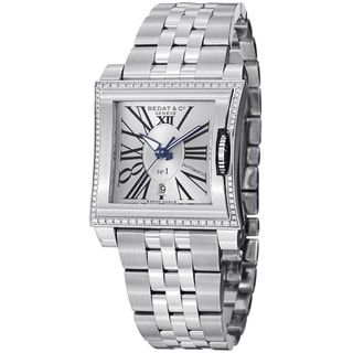 Bedat Women's 118.021.101 'No. Silver Diamond Dial Stainless Steel Bracelet Watch