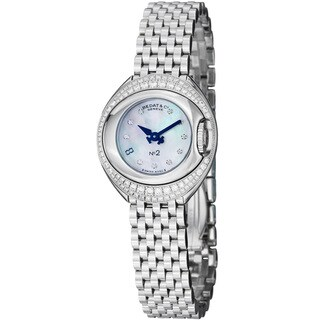 Bedat Women's 227.041.909 'No2' Mother of Pearl Diamond Dial Quartz Watch