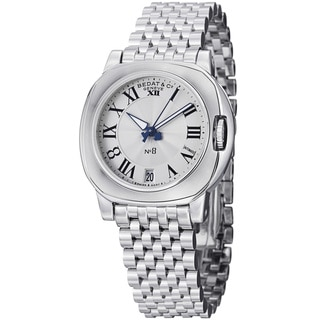 Bedat Women's 838.011.100 'No8' Silver Dial Stainless Steel Bracelet Watch