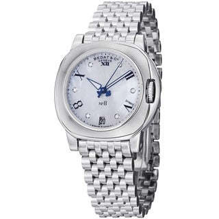 Bedat Women's 838.011.909 'No8' Mother of Pearl Diamond Dial Automatic Watch