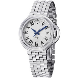 Bedat Women's 828.011.600 'No8' Silver Dial Stainless Steel Automatic Watch