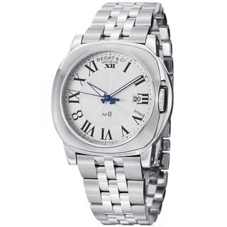 Bedat Men's 888.011.100 'No8' Silver Dial Stainless Steel Automatic Watch