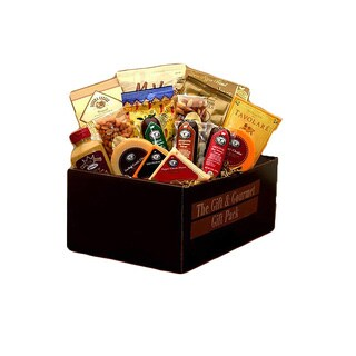 Savory Selections Gourmet Meat and Cheese Gift Pack - brown