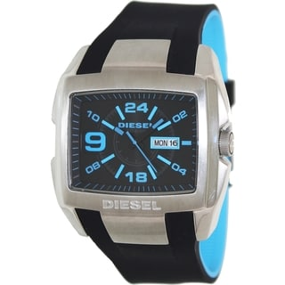 Diesel Men's Two-tone Silicone and Black Dial Analog Quartz Watch