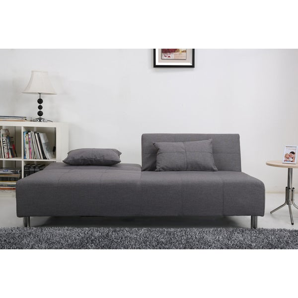 Atlanta Light Grey Convertible Sectional Sofa Bed   Free Shipping Today    Overstock.com   15669867