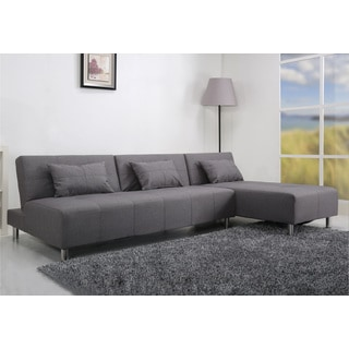 Atlanta Light Grey Convertible Sectional Sofa Bed