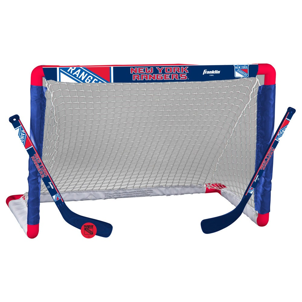 Franklin Sports NHL New York Rangers Mini Hockey Goal Set...