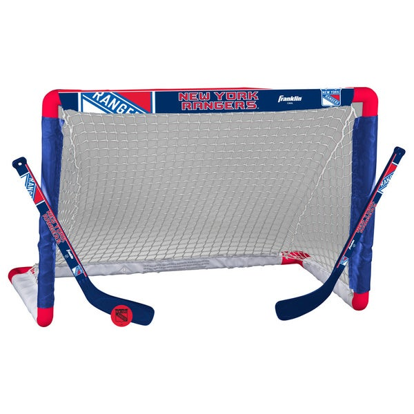 NHL New York Rangers Mini Hockey Goal Set