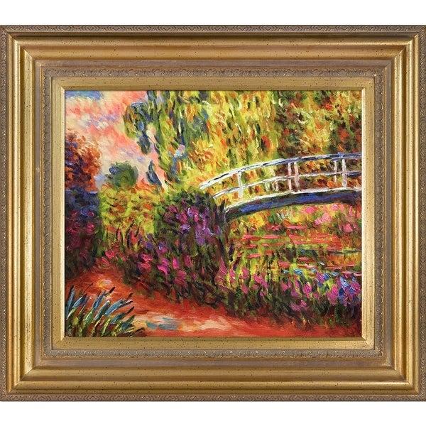 Claude Monet The Japanese Bridge Hand Painted Framed Canvas Art