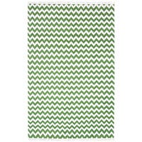 Handwoven Electro Wool Flat Weave Chevron Rug (8'x10') - 8' x 10'