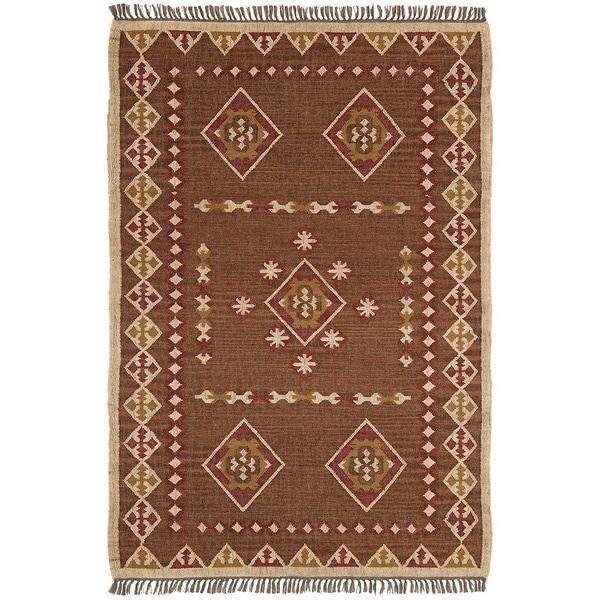 Hand Woven Bradford Jute & Wool Flat Weave (5 x 8) - 5' x 8'