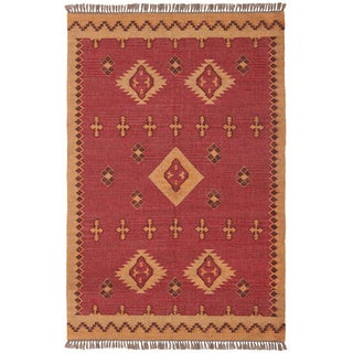 Hand Woven Antiquity Jute and Wool Flat Weave (5 x 8)