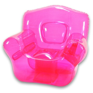 Shop Pretty Pink Inflatable Bubble Chair Free Shipping
