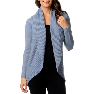 Ply Cashmere Women's Long Sleeve Circular Cardigan