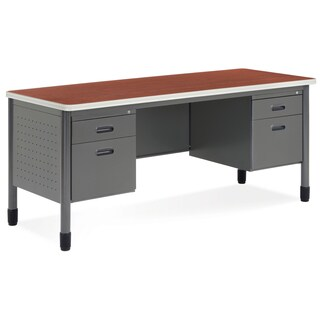 OFM Cherry Top Double Pedestal Credenza (2 options available)