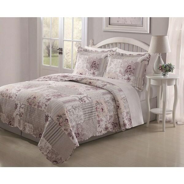 Audrey 3-piece Patchwork Quilt Set