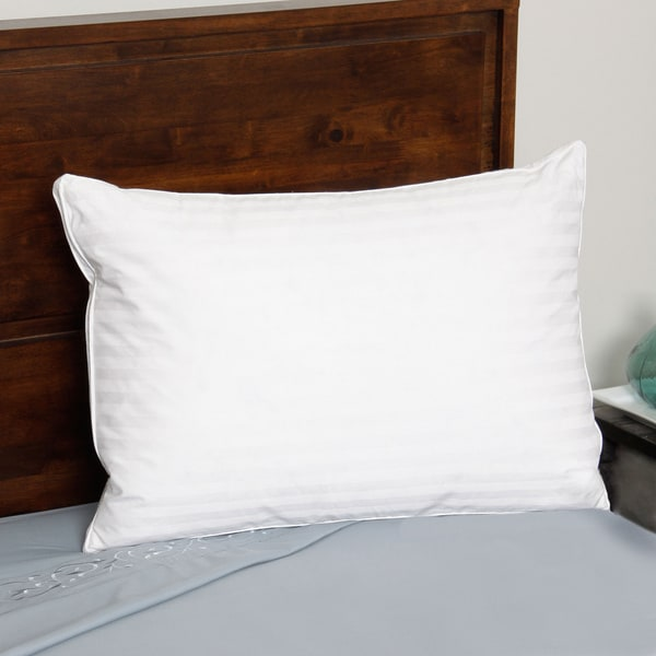 European Legacy Down Feather Density Pillow - White
