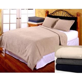Fleece Check Textured Blanket