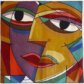 Abstract Multicolor Face Tapestry , Handmade in India|https://ak1.ostkcdn.com/images/products/8364510/8364510/Abstract-Multicolor-Face-Tapestry-India-P15671427.jpg?impolicy=medium