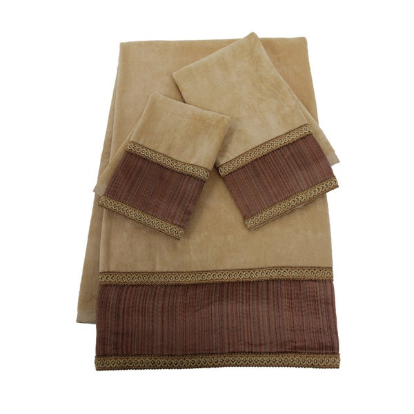 Sherry Kline Juliet Striped Embellished 3-piece Towel Set
