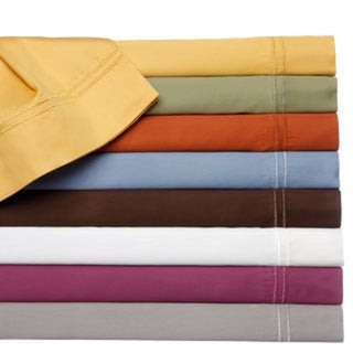 400 Thread Count Double Merrow Hem Cotton Rich Solid Sheet