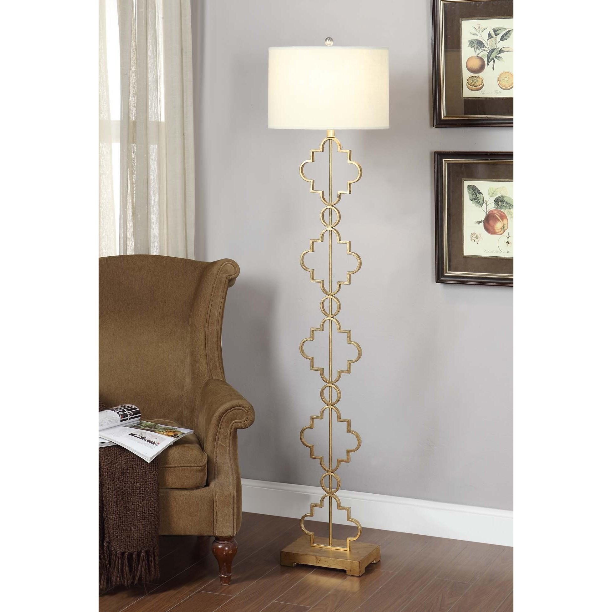 Gold Leaf Moroccan Floor Lamp
