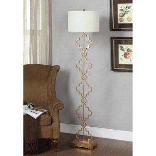 Clay Alder Home Gold Leaf Moroccan Floor Lamp