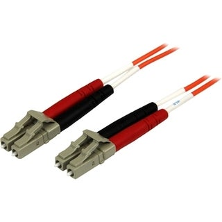 2m Fiber Optic Cable - Multimode Duplex 50/125 - OFNP Plenum - LC/LC