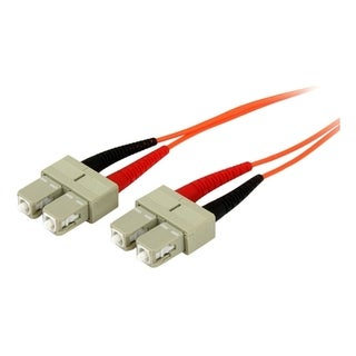 5m Fiber Optic Cable - Multimode Duplex 50/125 - OFNP Plenum - SC/SC