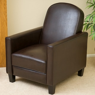 Christopher Knight Home Johnstown Brown Leather Recliner
