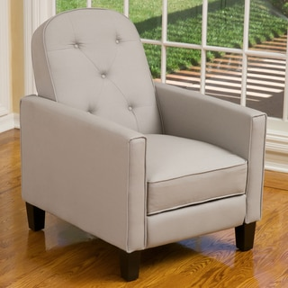 Johnstown Grey Tufted Fabric Recliner by Christopher Knight Home