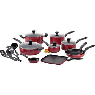 T-Fal A777SI64 Red Initiatives 18-piece Cookware Set