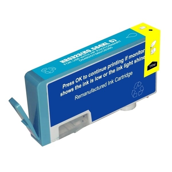 Insten Remanufactured 564XL Cyan Ink Cartridge CB323WN/ CN685WN with New Chip for HP PhotoSmart 5510/ 5514/ 6510