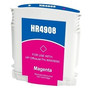Insten Magenta Remanufactured Ink Cartridge Replacement for HP C4908AN/ C4904AN/ 940XL