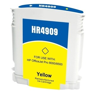 Insten Yellow Remanufactured Ink Cartridge Replacement for HP C4909AN/ C4905AN/ 940XL