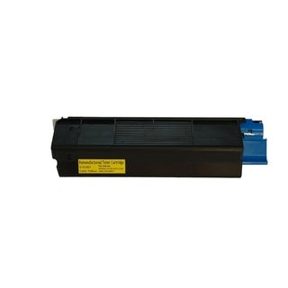 Insten Premium Yellow Color Toner Cartridge 42127401 for OKI C5100/ C5150/ C5200