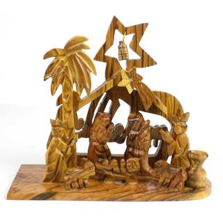 Handmade Bethlehem Olive Wood Nativity (West Bank)