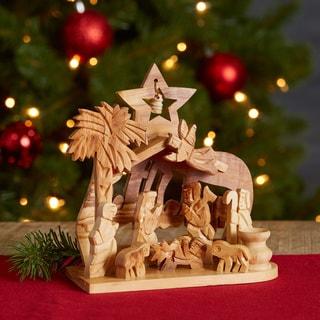 Handmade Bethlehem Olive Wood Nativity (West Bank)